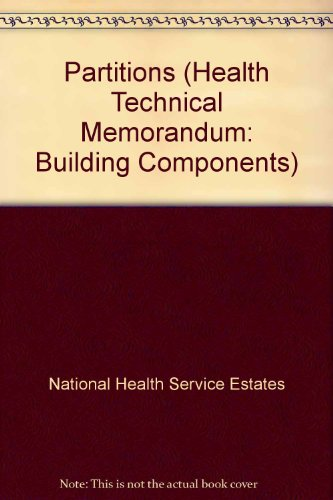 9780113220106: Partitions (Health Technical Memorandum: Building Components)