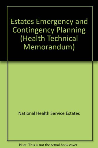 9780113220649: Estates Emergency and Contingency Planning (Health Technical Memorandum)