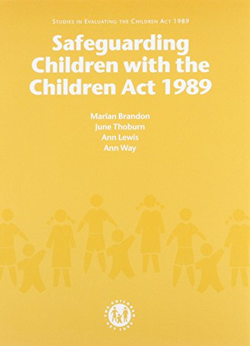 9780113221745: Safeguarding Children with the Children Act, 1989 (Studies in Evaluating the Children Act 1989)