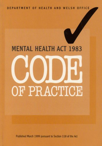 9780113222766: Code of Practice: Mental Health Act, 1983 (Welsh & English)