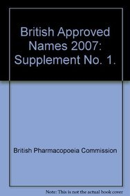 9780113227884: British Approved Names 2007: Supplement No. 1.