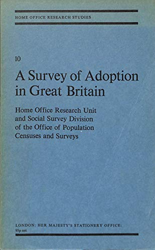 9780113401109: Survey of Adoption in Great Britain (Research Studies)