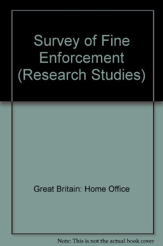 9780113401161: Survey of Fine Enforcement (Research Studies)