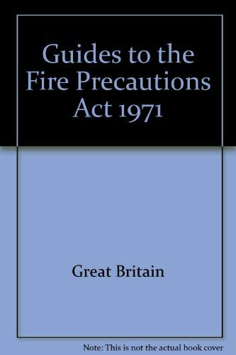 9780113404438: Guides to the Fire Precautions Act 1971