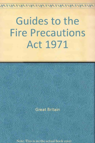 9780113404452: Guides to the Fire Precautions Act 1971