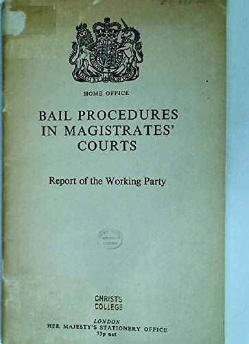 9780113405602: Bail Procedures in Magistrates' Courts