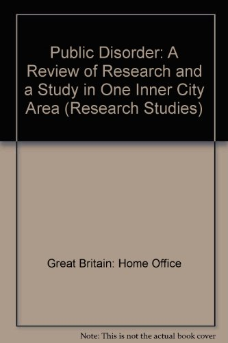 9780113407675: Public Disorder: A Review of Research and a Study in One Inner City Area (Research Studies)
