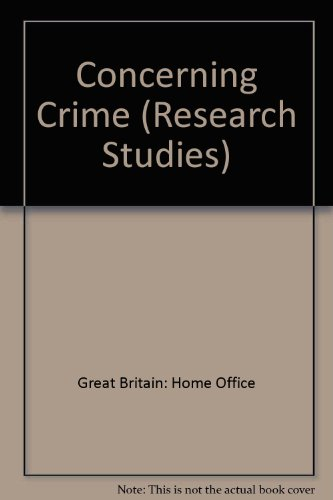 9780113407705: Concerning Crime (Research Studies)