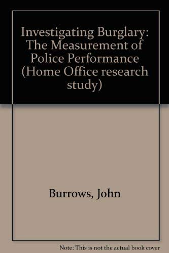 9780113408245: Investigating Burglary: The Measurement of Police Performance (Home Office research study)