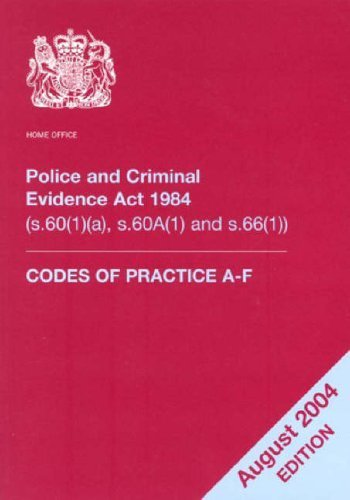 9780113411313: Police and Criminal Evidence Act 1984: Codes of Practice: Codes of Practice (s.60 (1) and s.66)