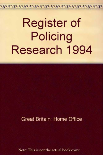 9780113411344: Register of Policing Research 1994