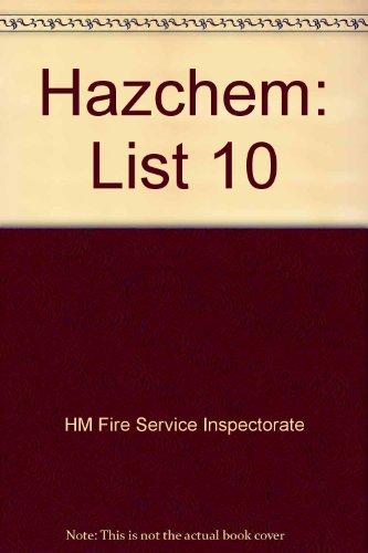 9780113412235: Hazchem: List 10