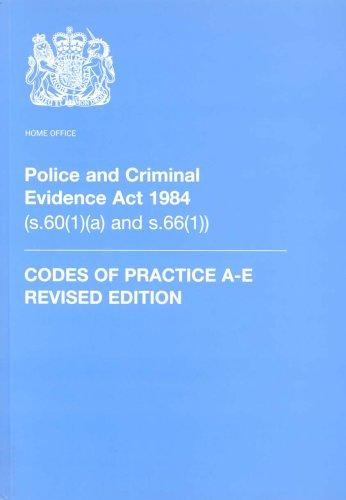 9780113412709: Police and Criminal Evidence Act 1984: Codes of Practice