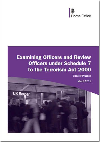 9780113413799: Code of Practice for Examining Officers and Review Officers Under Schedule 7 to the Terrorism Act 2000