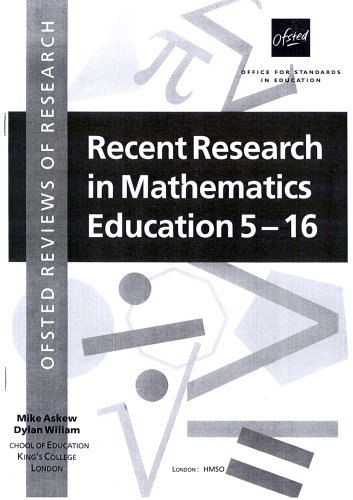 9780113500499: Recent Research in Mathematics Education 5-16 (OFSTED reviews of research)