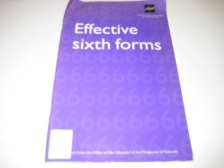 9780113500772: Effective Sixth Forms