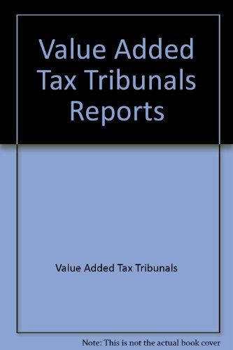 9780113800636: Value Added Tax Tribunals Reports