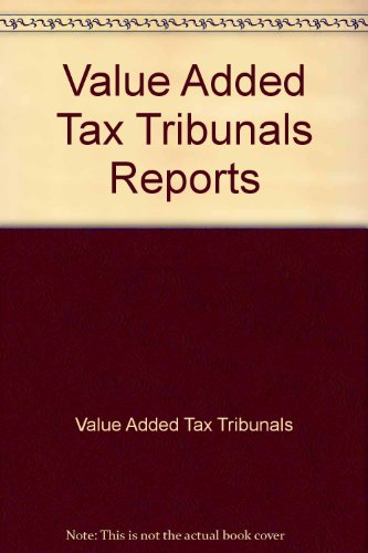 9780113800773: Value Added Tax Tribunals Reports