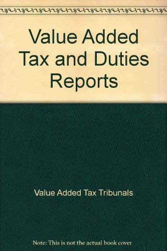 9780113800988: Value Added Tax and Duties Reports