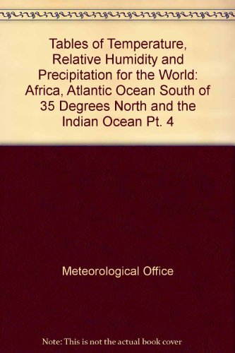 9780114000295: Tables of Temperature, Relative Humidity and Precipitation for the World