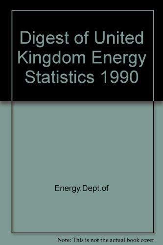 9780114134235: Digest of United Kingdom Energy Statistics