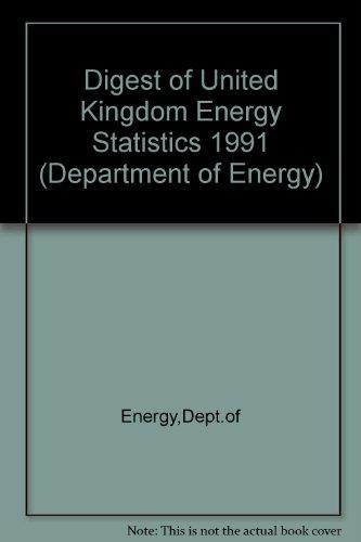 9780114136291: Digest of United Kingdom Energy Statistics (Department of Energy)
