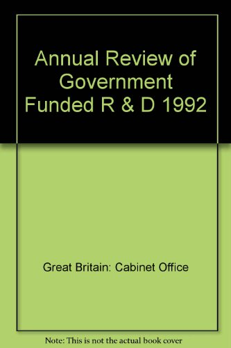 9780114300623: Annual Review of Government Funded Research & Development, 1992