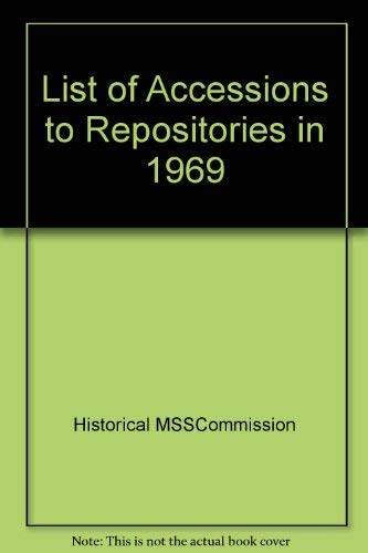 9780114400248: List of Accessions to Repositories in 1969