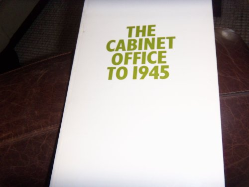 9780114400347: Cabinet Office to 1945 (Handbooks / Great Britain. Public Record Office)