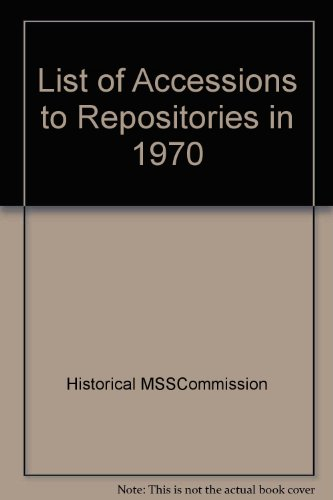 9780114400361: List of Accessions to Repositories in