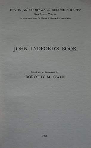 JOHN LYDFORD?S BOOK. Edited with an Introduction.