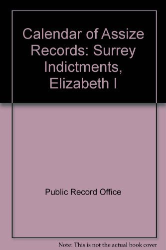 9780114401030: Calendar of Assize Records Surrey Indictments, Elizabeth I
