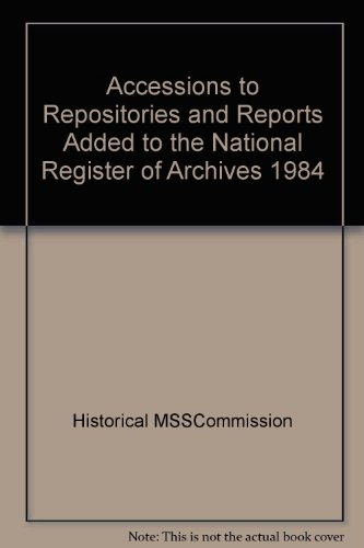 9780114401993: Accessions to Repositories and Reports Added to the National Register of Archives