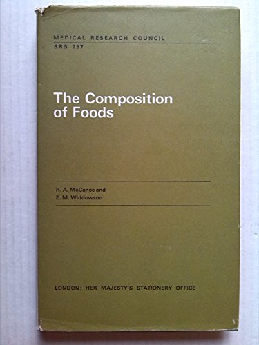 9780114500054: Composition of Foods (Special Report Series)