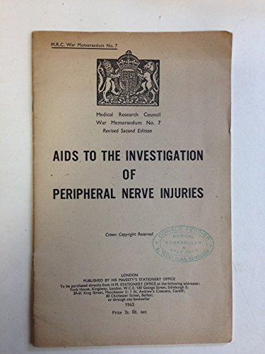 9780114500061: Aids to the Investigation of Peripheral Nerve Injuries