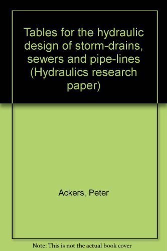 9780114700546: Tables for the hydraulic design of storm-drains, sewers and pipelines (Hydraulics research paper, no. 4)