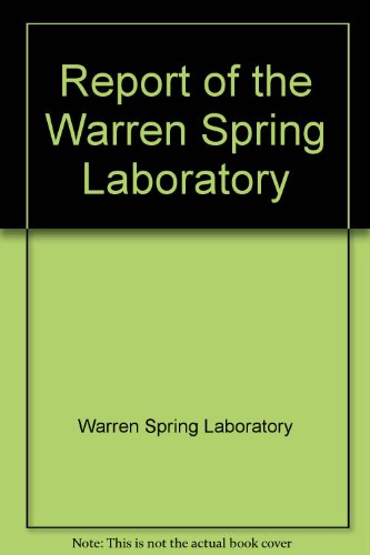 9780114702052: Report of the Warren Spring Laboratory