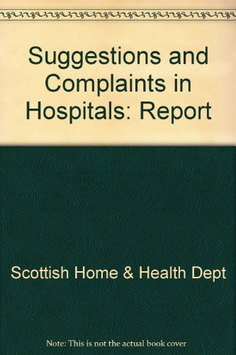 9780114902728: Suggestions and Complaints in Hospitals: Report
