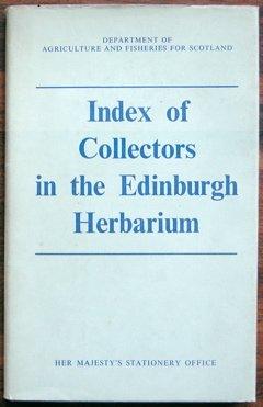 9780114904302: Index of Collectors in the Edinburgh Herbarium