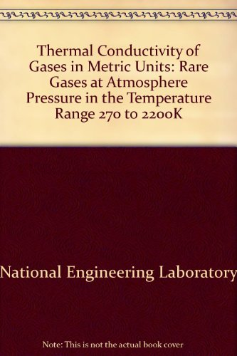 Thermal Conductivity of Gases in Metric Units: The Rare Gases at Atmospheric Pressure in the ...