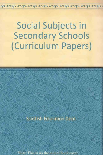 9780114913786: Social Subjects in Secondary Schools (Curriculum Papers)