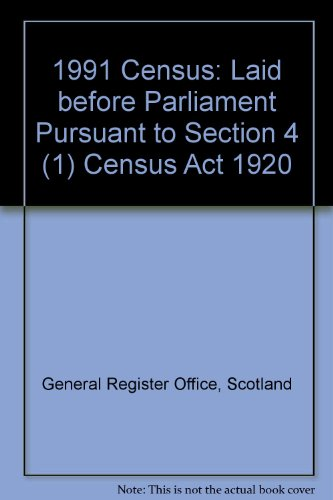 9780114942502: 1991 Census: Laid before Parliament Pursuant to Section 4 (1) Census Act 1920