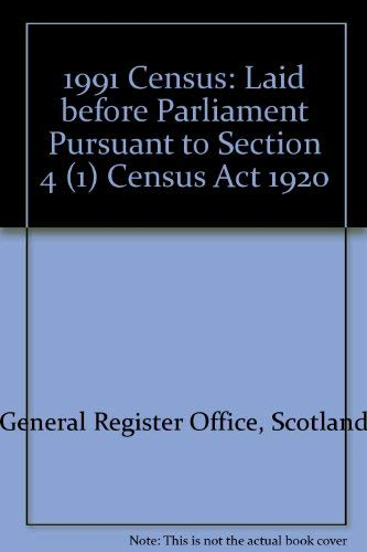 9780114942519: 1991 Census: Laid before Parliament Pursuant to Section 4 (1) Census Act 1920