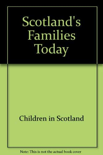 9780114952976: Scotland's Families Today