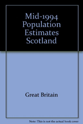 9780114957438: Mid-1994 Population Estimates Scotland