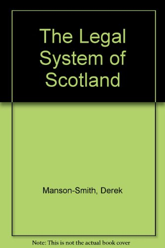 9780114973155: The Legal System of Scotland