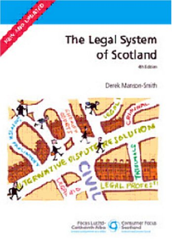 9780114973476: The Legal System of Scotland