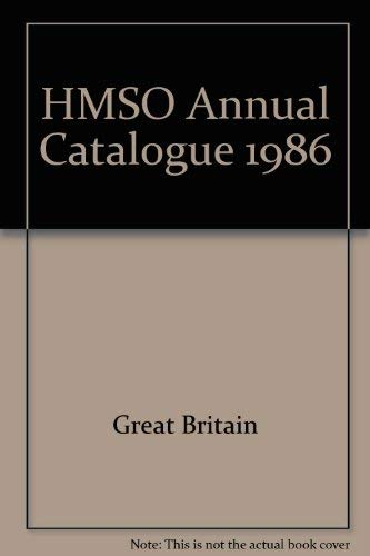 9780115001444: HMSO Annual Catalogue 1986