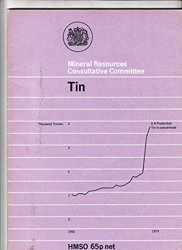 9780115108334: Tin (Mineral Dossier)