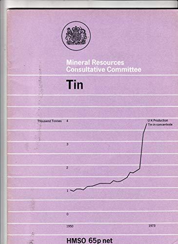 9780115108334: Tin (Mineral Dossier)